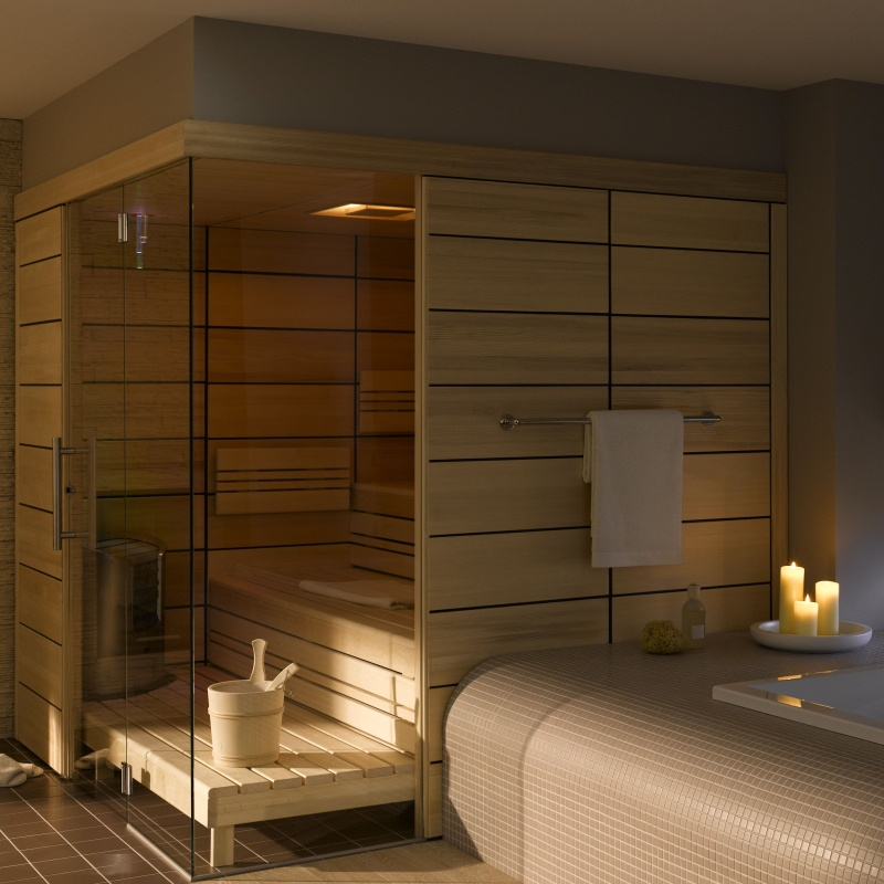 Wellness produkt elementsauna helo for Comfort house