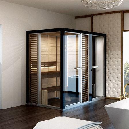wellness produkt elementsauna tyl tyl sauna und dampfdusche impression. Black Bedroom Furniture Sets. Home Design Ideas