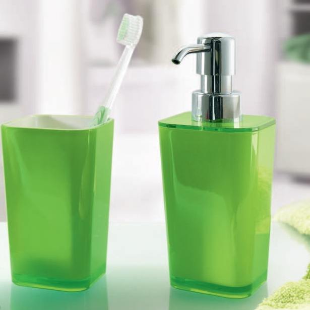 Bad accessoires grün  wellness-edition.com - Produkt: - Glashalter / Zahnputzbecher ...