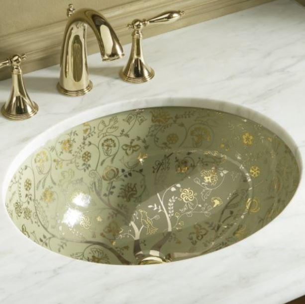 wellness produkt waschtische und schalen kohler kohler mille fleurs. Black Bedroom Furniture Sets. Home Design Ideas